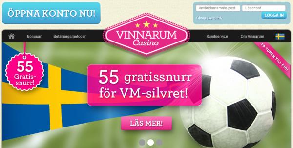 Vinnarum firar vm-silvret med 55 free spins